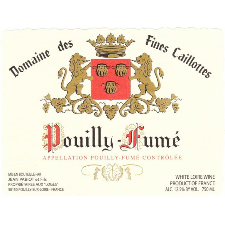Jean Pabiot Fines Caillottes Pouilly Fume 2016 Front Label