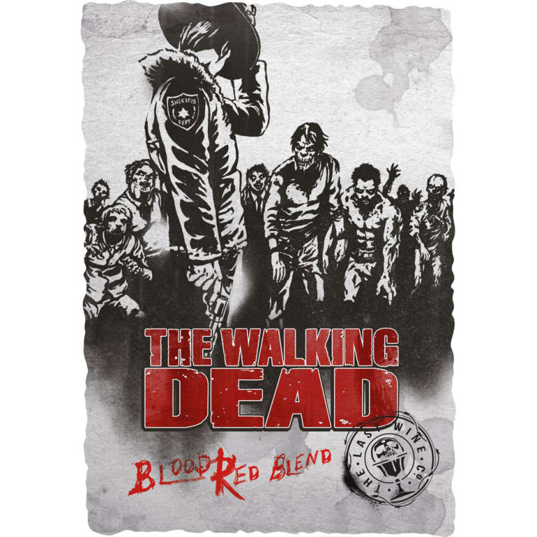 The Walking Dead Blood Red Blend 2016 Front Label