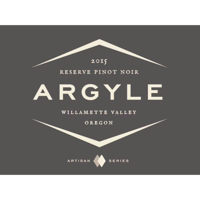 Argyle Reserve Pinot Noir (375ML half-bottle) 2015 Front Label
