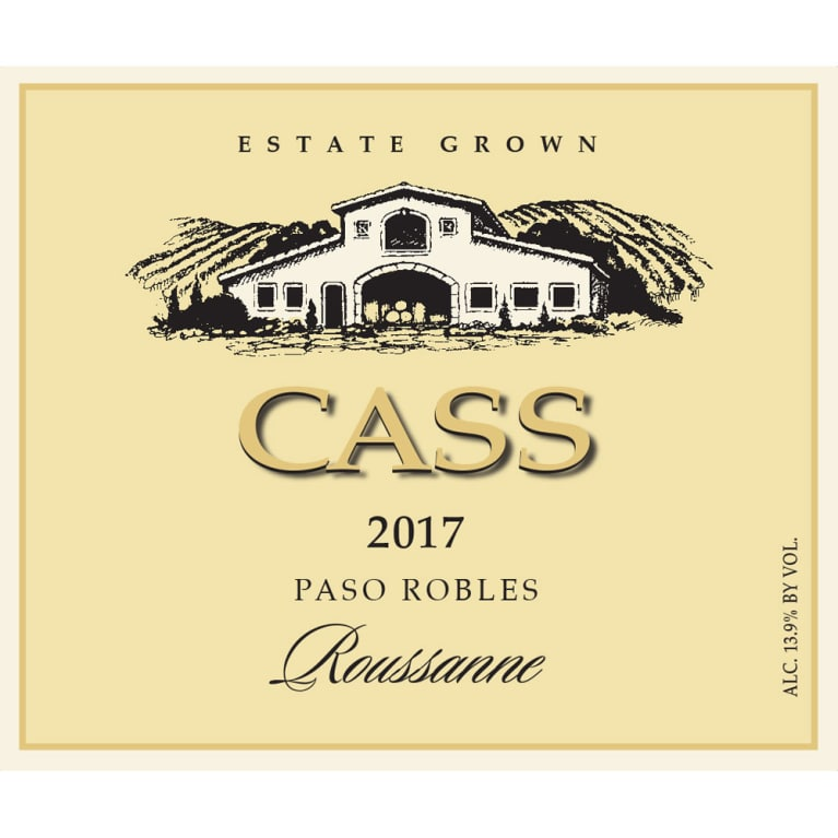 Cass Winery Roussanne 2017 Front Label
