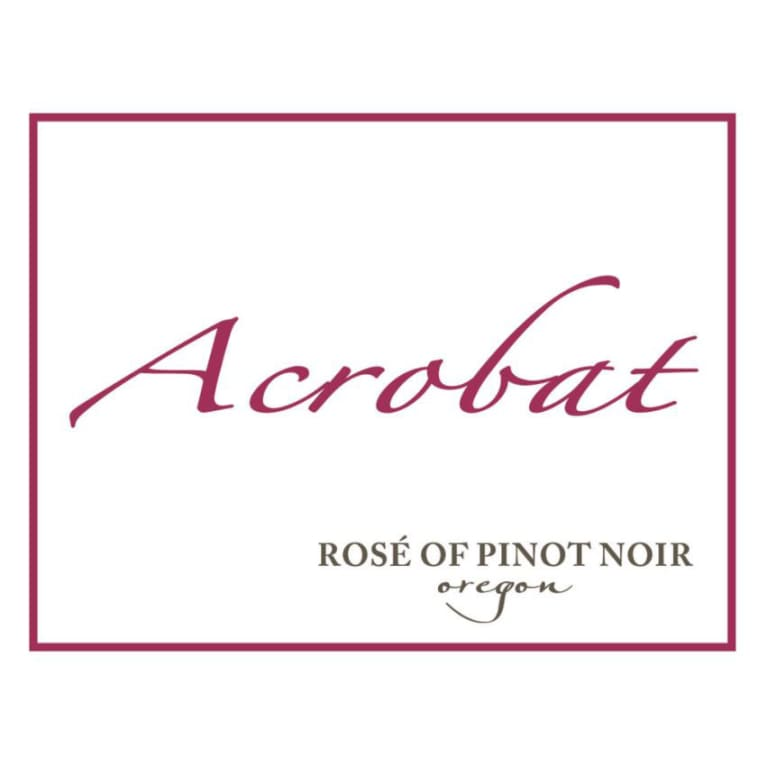Acrobat Rose of Pinot Noir 2017 Front Label