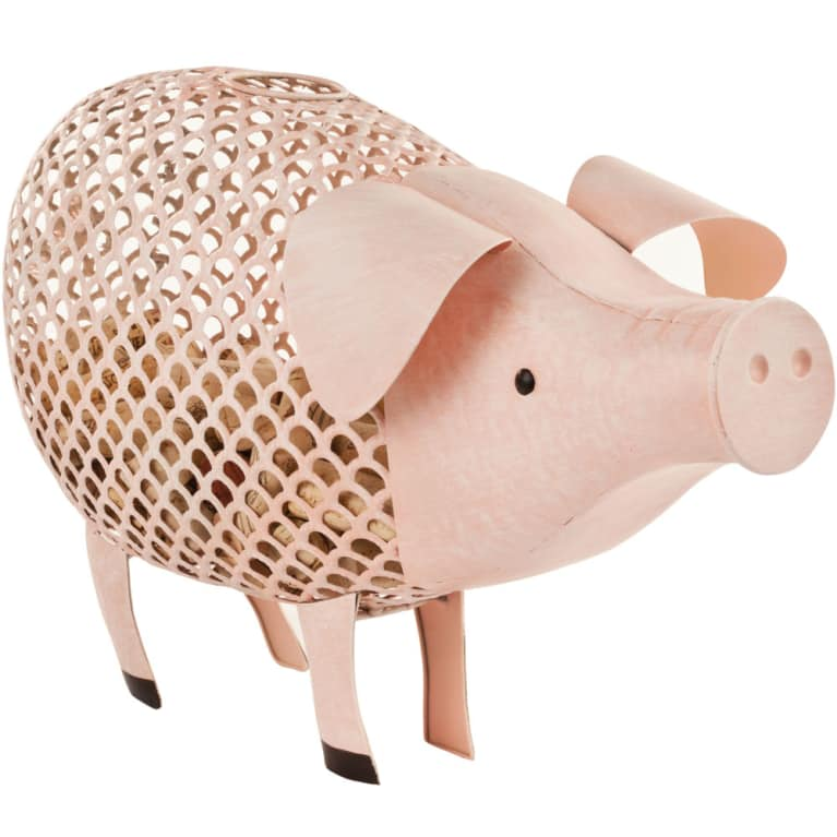 wine.com Country Cottage Pig Cork Holder Gift Product Image