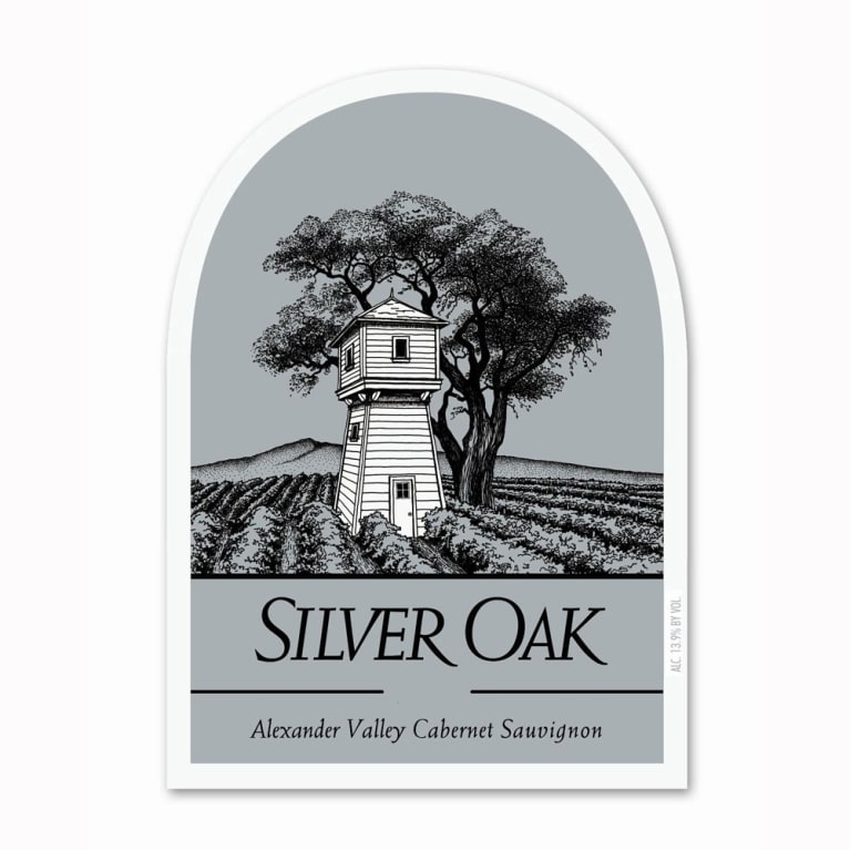 Silver Oak Alexander Valley Cabernet Sauvignon (3 Liter Bottle) 1990 Front Label