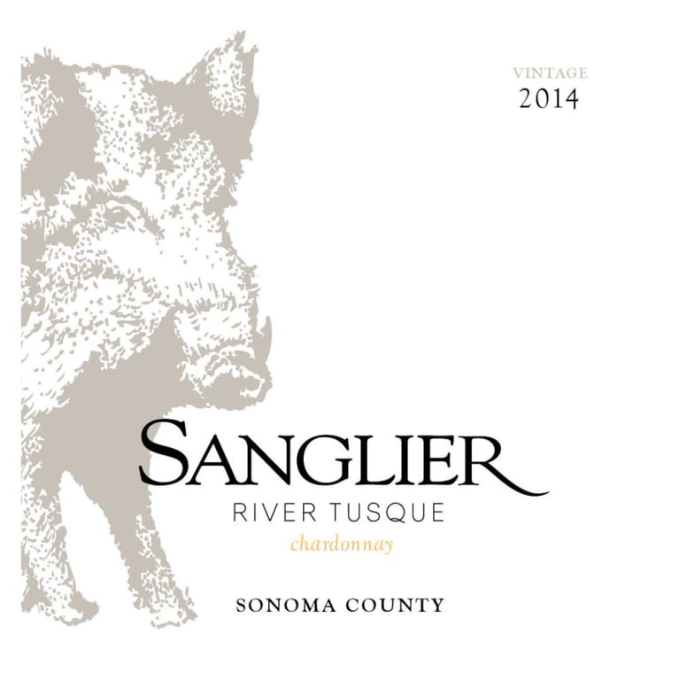 Sanglier Cellars River Tusque Chardonnay 2014 Front Label