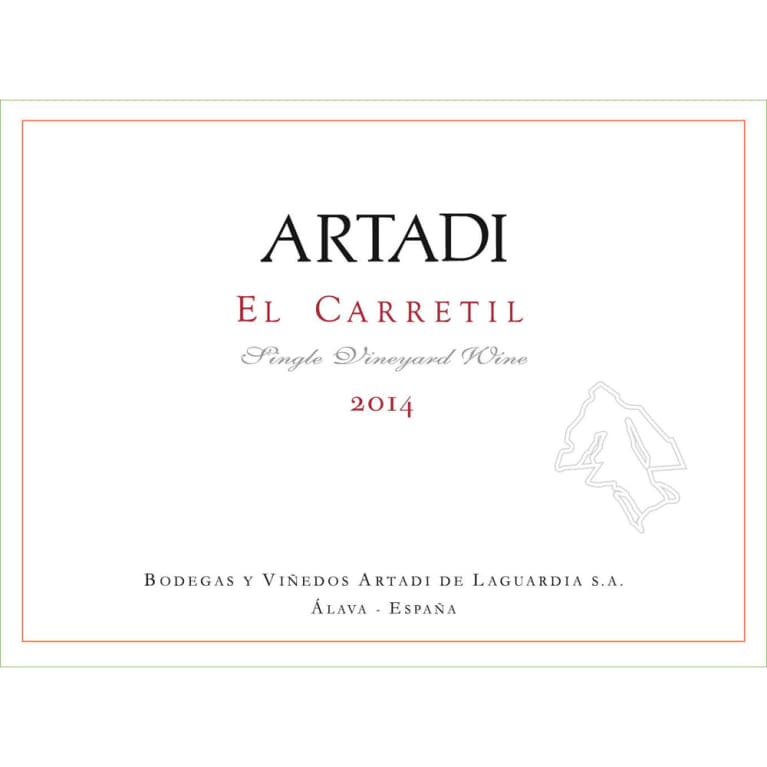 Artadi El Carretil Tempranillo 2014 Front Label