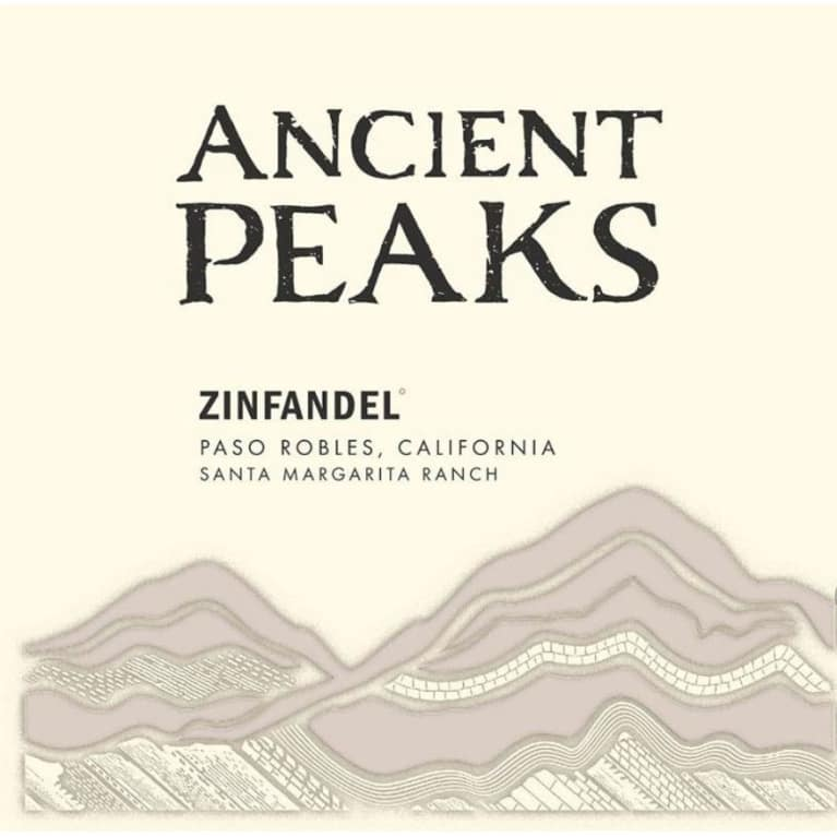 Ancient Peaks Paso Robles Zinfandel 2016 Front Label