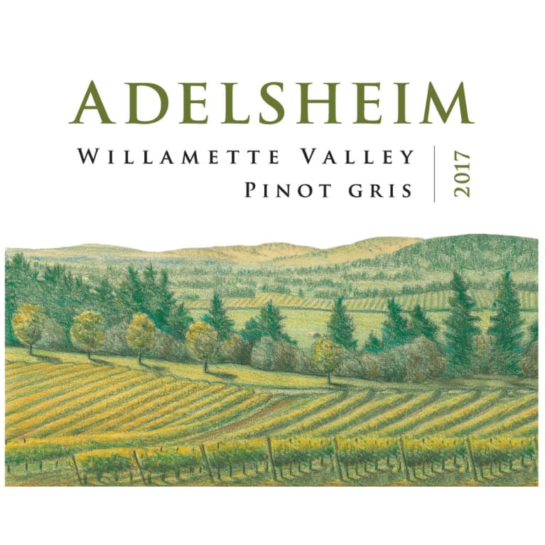 Adelsheim Pinot Gris (375ML half-bottle) 2017 Front Label