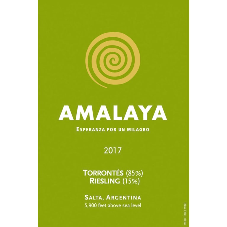 Amalaya Blanco 2017 Front Label