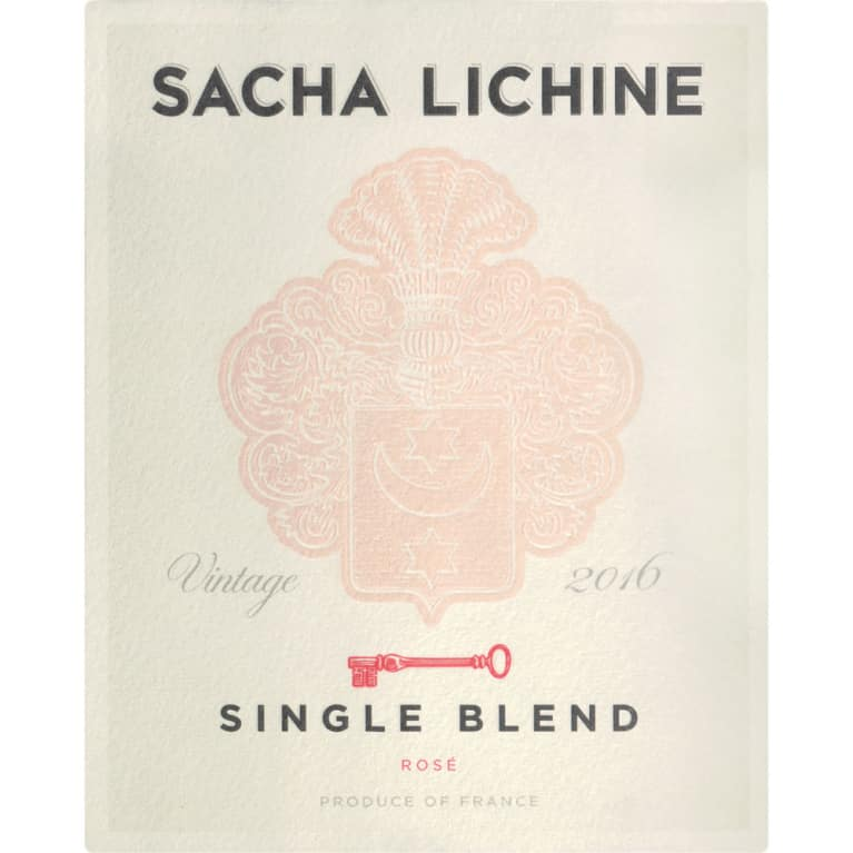 Sacha Lichine Single Blend Rose 2016 Front Label