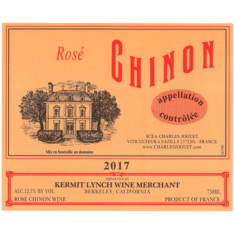 Charles Joguet Chinon Rose 2017 Front Label