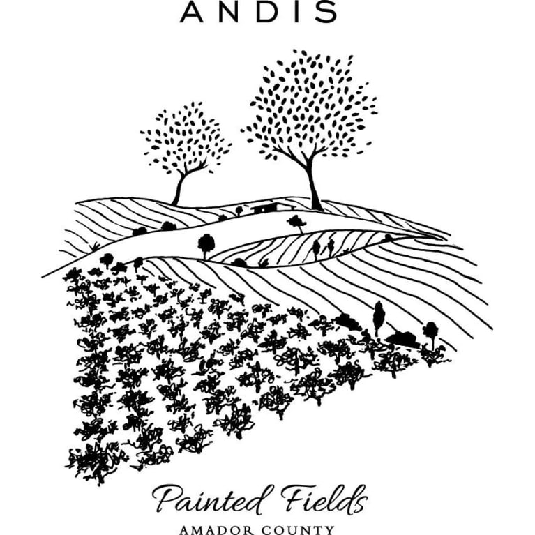 Andis Painted Fields Red Blend 2014 Front Label