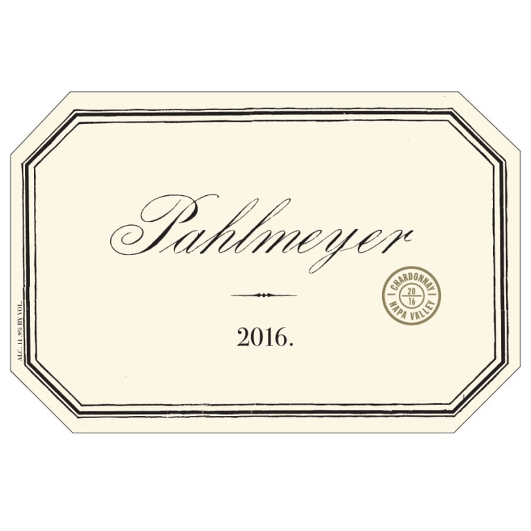 Pahlmeyer Napa Valley Chardonnay 2016 Front Label