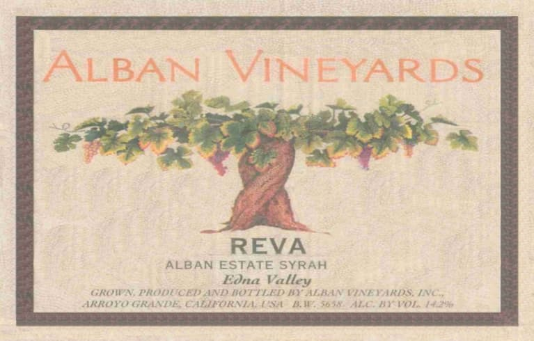 Alban Reva Estate Syrah 2009 Front Label