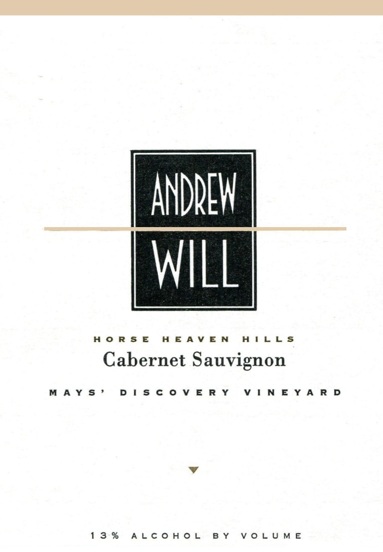 Andrew Will Winery May's Discovery Vineyard Cabernet Sauvignon 2011 Front Label