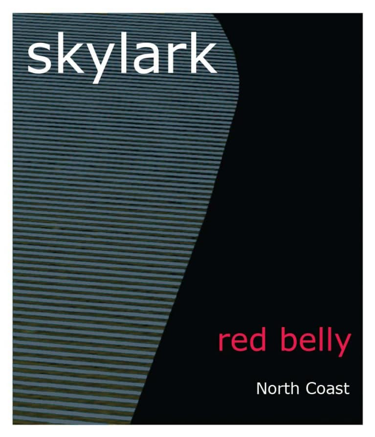 Skylark Red Belly 2015  Front Label