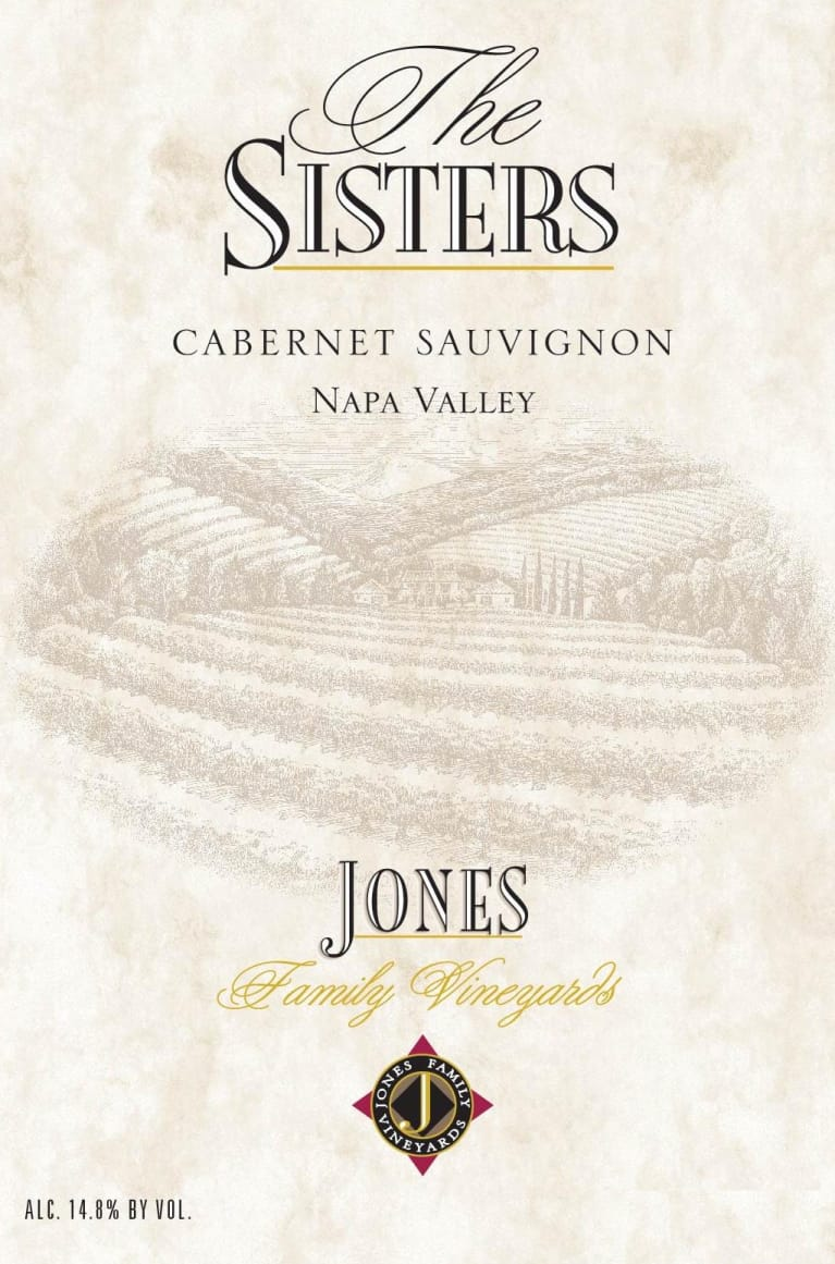 Jones Family Vineyards The Sisters 2014 Front Label