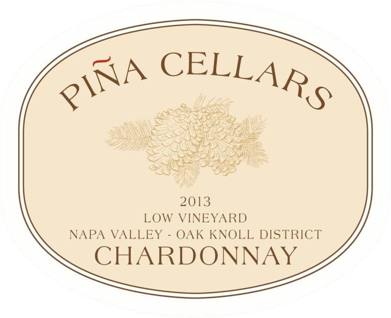 Pina Napa Valley Low Vineyard Chardonnay 2013   Wine.com