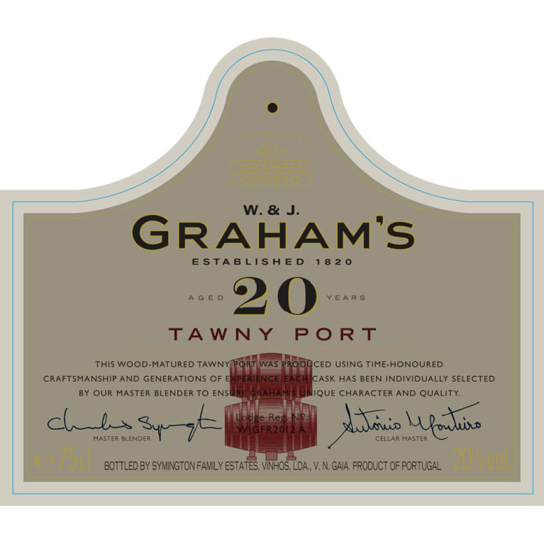 Graham's 20 Year Old Tawny Port Front Label