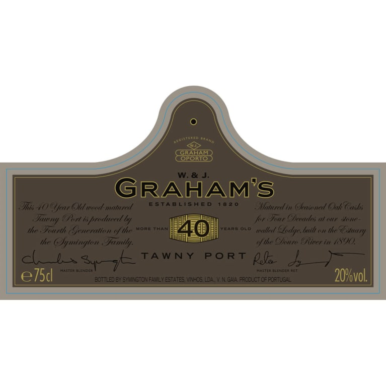 Graham's 40 Year Old Tawny Port Front Label