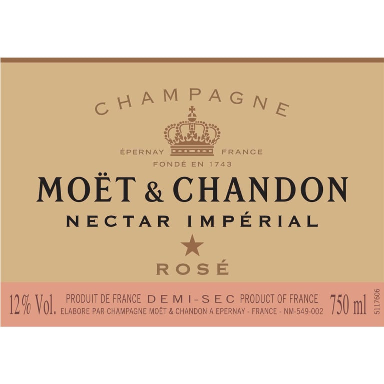 Moet & Chandon Nectar Imperial Rose Front Label