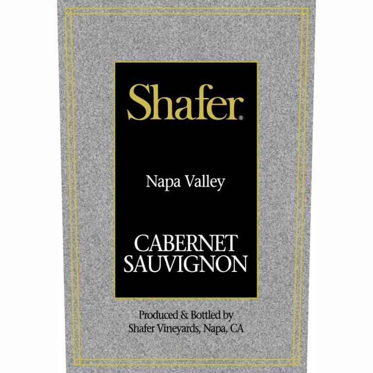Shafer Napa Valley Cabernet Sauvignon 2000 Front Label