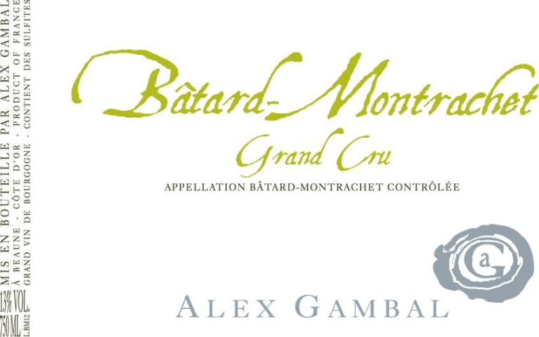 Alex Gambal Batard-Montrachet Grand Cru 2016 Front Label