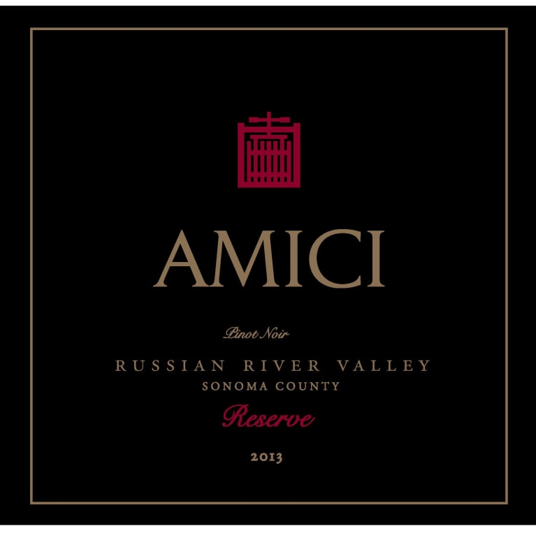 Amici Pinot Noir Reserve 2013 Front Label