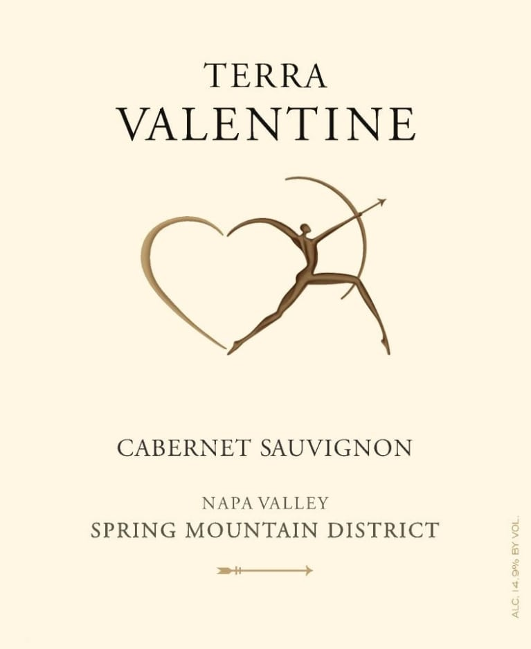 Terra Valentine Spring Mountain District Cabernet Sauvignon 2015  Front Label