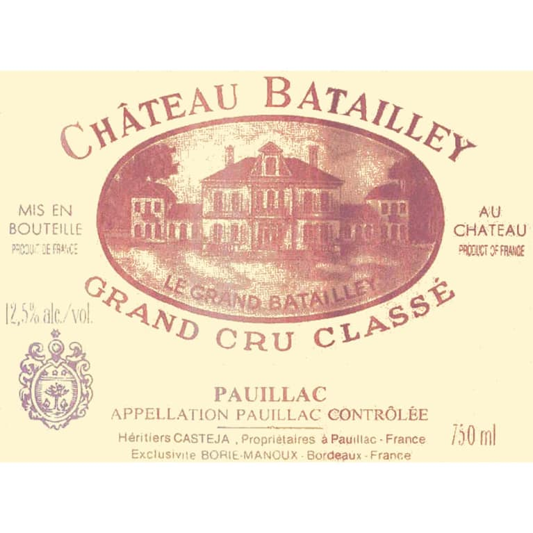 Chateau Batailley Pauillac 2006 Front Label