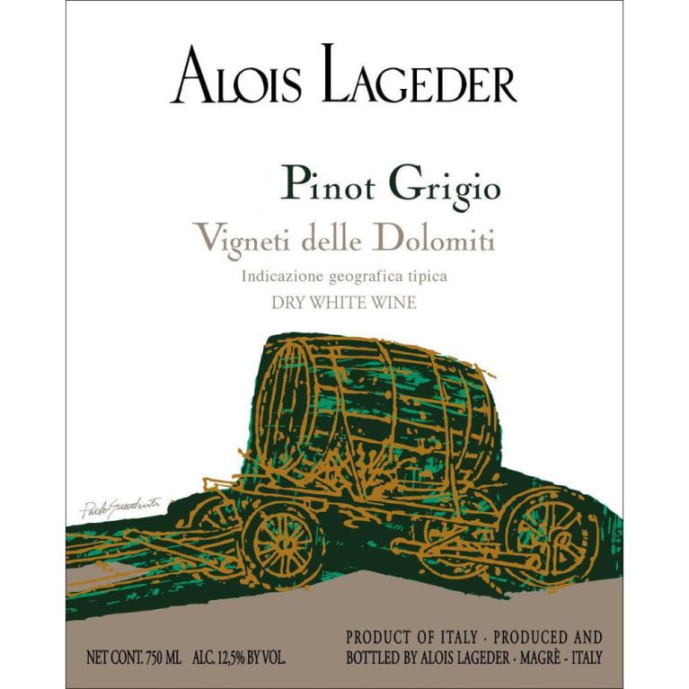 Alois Lageder Pinot Grigio 2005 Front Label
