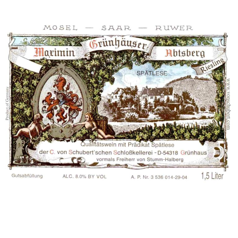Maximin Grunhauser Abtsberg Riesling Spatlese 2005 Front Label