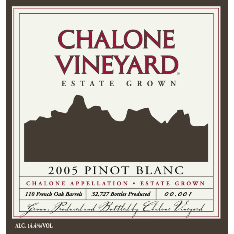 Chalone Pinot Blanc 2005 Front Label