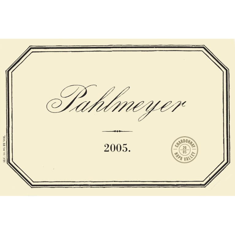 Pahlmeyer Napa Valley Chardonnay 2005 Front Label