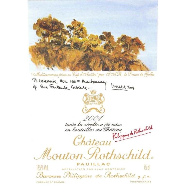 Chateau Mouton Rothschild  2004 Front Label