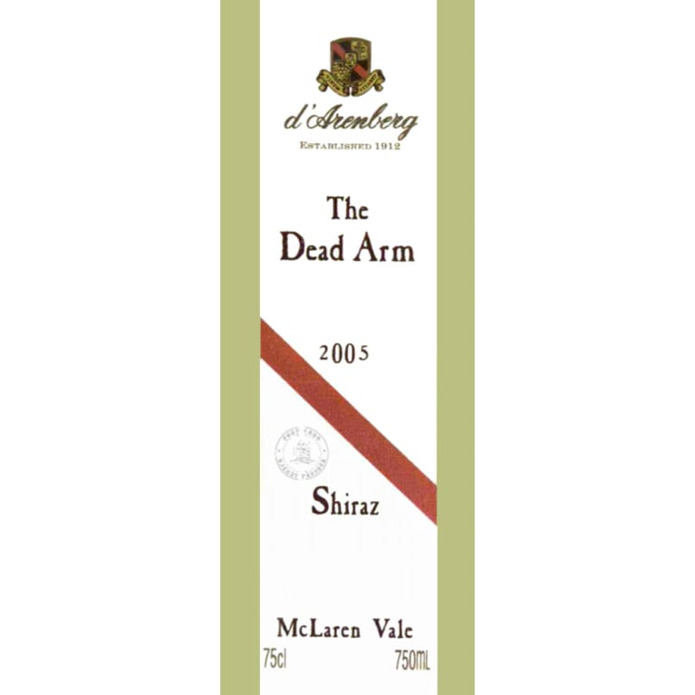 d'Arenberg The Dead Arm Shiraz 2005 Front Label