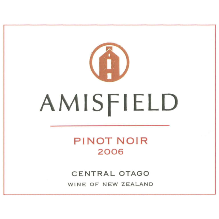 Amisfield Pinot Noir 2006 Front Label