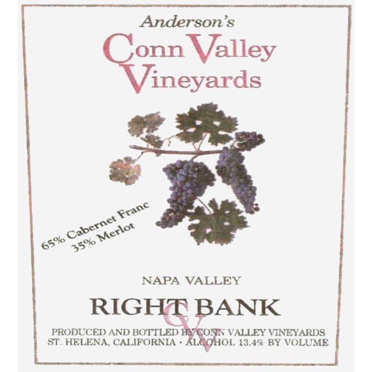 Anderson's Conn Valley Vineyards Right Bank Proprietary Red Blend 2005 Front Label