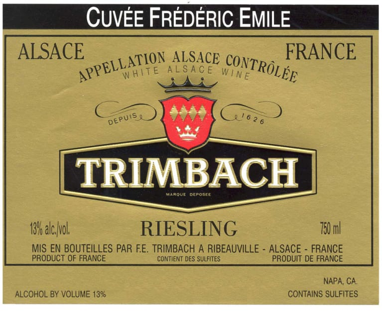 Trimbach Cuvee Frederic Emile Riesling 2005 Front Label