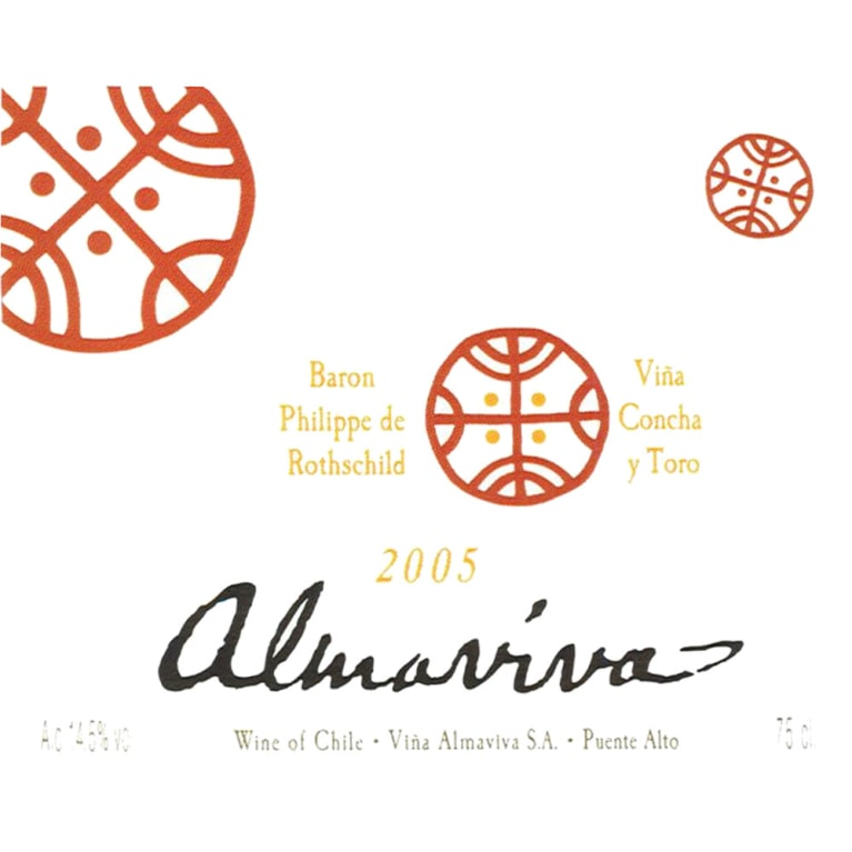 Almaviva Red 2005 Front Label