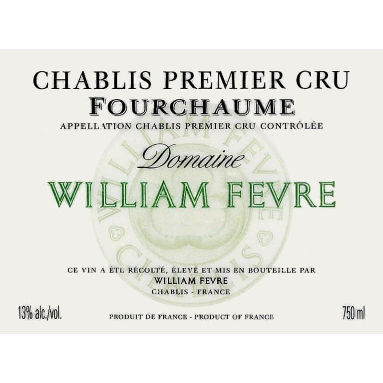 William Fevre Chablis Fourchaume Premier Cru (375ML half-bottle) 2007 Front Label
