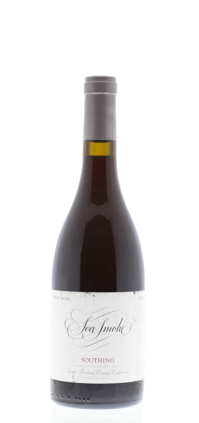 Sea Smoke Cellars Southing Pinot Noir 2006 Front Bottle Shot