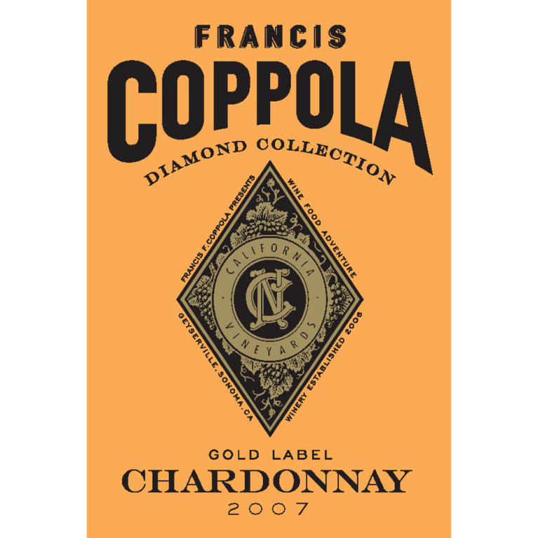 Francis Ford Coppola Diamond Collection Chardonnay 2007 Front Label