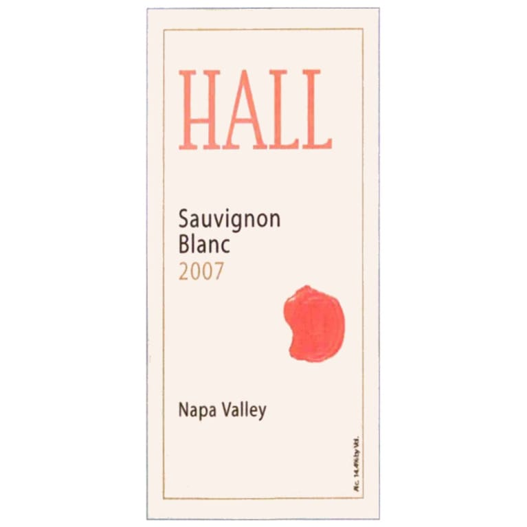 Hall Napa Valley Sauvignon Blanc 2007 Front Label