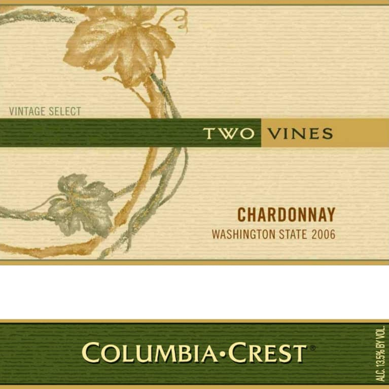 Two Vines Chardonnay 2006 Front Label