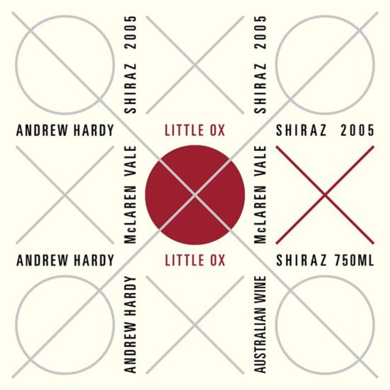 Andrew Hardy Little Ox Shiraz 2005 Front Label