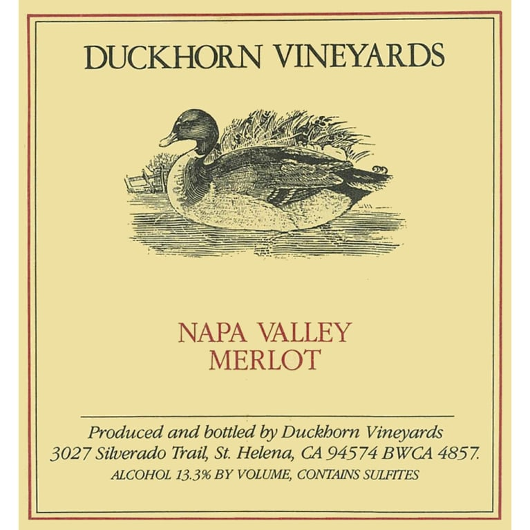 Duckhorn Napa Valley Merlot 2006 Front Label
