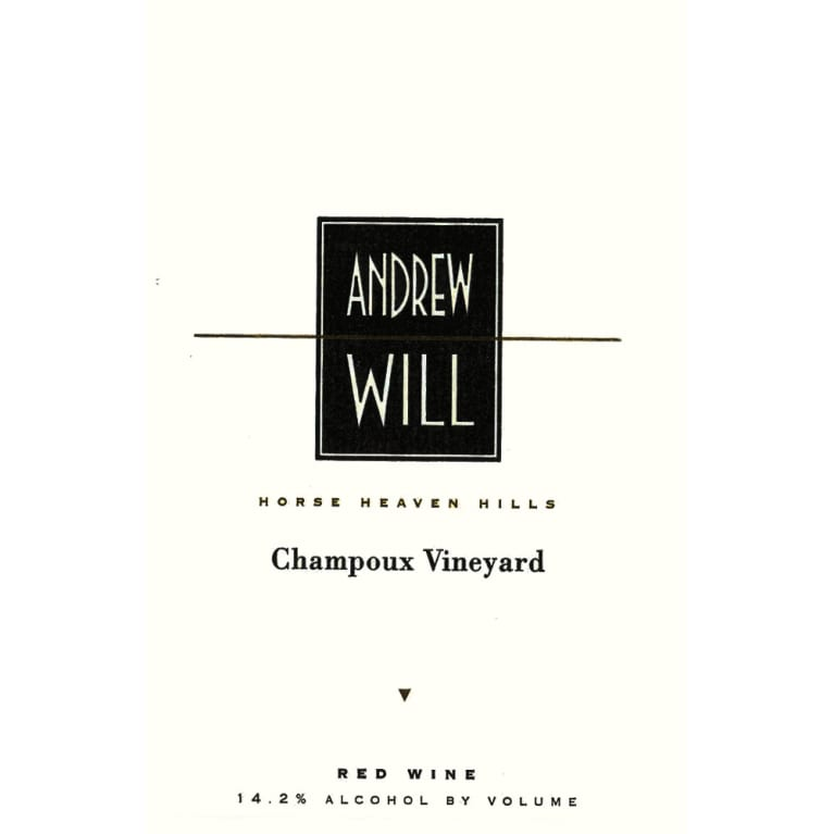Andrew Will Winery Champoux Vineyard Horse Heaven Hills 2006 Front Label