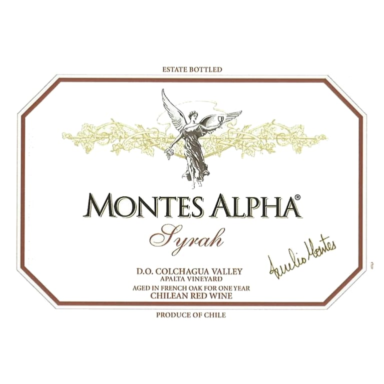 Montes Alpha Series Syrah 2007 Front Label