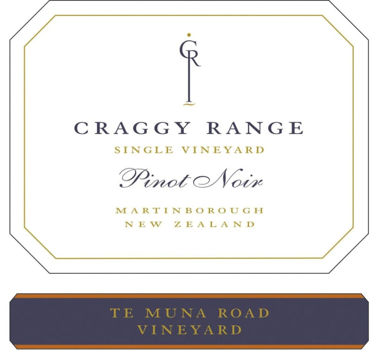 Craggy Range Winery Te Muna Road Vineyard Pinot Noir 2014 Front Label
