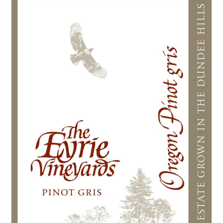 Eyrie Pinot Gris 2007 Front Label